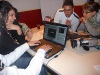 Offensichtlich auch viel Spaß hatten die Jugendlichen beim Videoworkshop von DAF