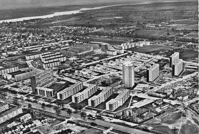 Der südliche Teil der Siedlung, Ende der 60er Jahre