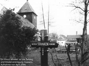 Die Dorfkirche Staaken, Ort von Ausstellung und Veranstaltungen zur Wiedervereinigung
