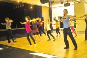 """Die Frühaufsteherinnen vom Workshop """"Indien - Bollywood"""""""