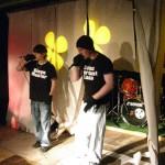 Zwei der MiM HipHoper beim 10. Jubiläum von Streetwork Staaken