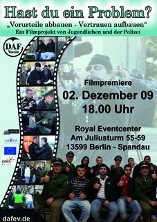 ein gemeinsames Filmprojekt von Jugendlichen unseres Stadtteils mit der Polizei