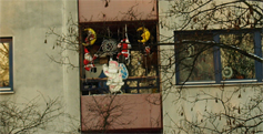 Weihnachtlicher Balkon an der Heerstraße 448