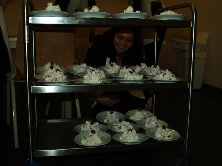 """Das Dessert """"Staakener Schneegestöber"""" wird auch in Erinnerung bleiben - und sei es auf den Hüften"""