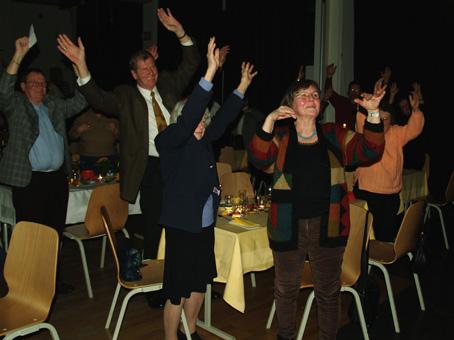 Mitmachen war angesagt bei der Theatergruppe Gimmicks vom Improvisationstheater Die Gorillas