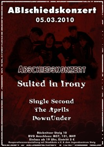 Single Second, The Aprils und Down Under geben ihr Abschiedskonzert im STEIG