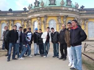 Am 7.3. vor dem Schloss Sanssouci in Potsdam