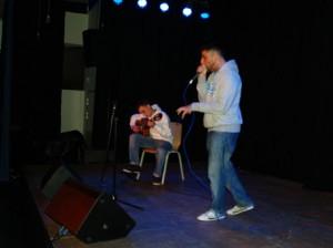 Jaime Muthesius gen. KingEx, begleitet von Eyüp Krüger zeigte wie krativ und melodiös Beatbox sein kann
