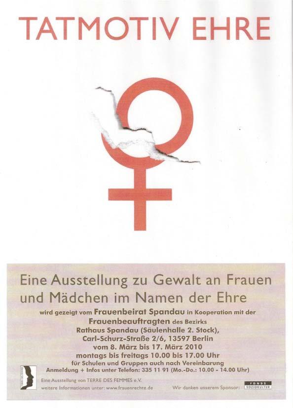 Das Plakat zur Ausstellung Tamotiv Ehre