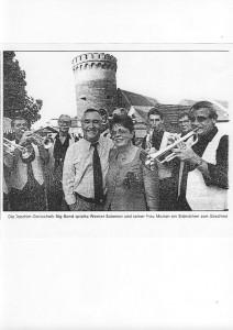 Die BigBand JG spielte auf für den damaligen Bürgermeister Salomon auf der Zitadelle