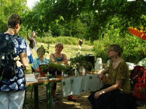 """Teil des """"grünen Klassenzimmers"""" der Schul- und Kräutergarten"""