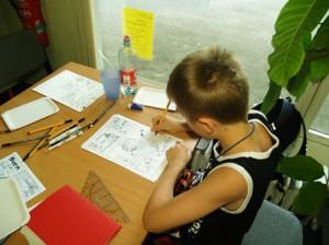 Arbeit an der eigenen Story für das Skript-Heft des Workshops