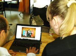 Bei DAF gabs Fragen und das Foto vom Verkleiden musste ausgedruckt werden