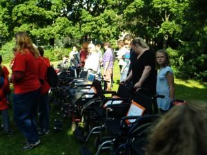 Für alle Teams wurde ein Rollstuhl gestellt