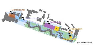 Die Vorschläge der Anwohner/innen für Standorte im Park - Abb. aus der Präsentation des Charrette-verfahrens
