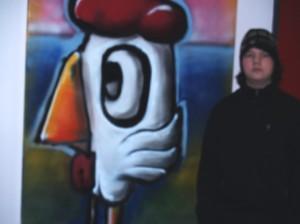 Kann mit Recht Stolz sein auf sein Werk, Philipp Gleibs, der auch perfekt Gäste durch die Ausstellung führte