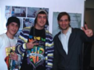 Sven Proske (rechts) mit den jungen Künstlern der CSO Tugberg und Syabend