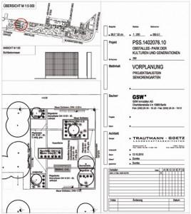 Die Planung des Büros Götz, Trautmann für die Seniorengärten
