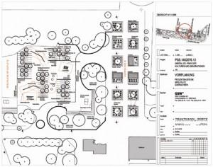 Statt Grube des Badmintonplatzes bald erweiterte Ruhe- und Spielflächen mit Balancierstangen, Minitrampolinen etc.e