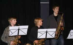 Sind erst kurz so zusammen und doch schon prima, die Saxofongruppe der Musikschule