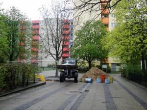 Noch vor Ostern werden die Wegebauarbeiten beendet sein