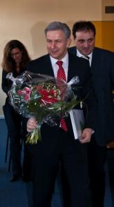 Schon Anfang März war Klaus Wowereit zu Gast an der Grundschule am Amalienhof