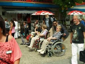 Wie hier beim Centerfest auch am Samstag in Aktion, der Mobilitätshilfedienst