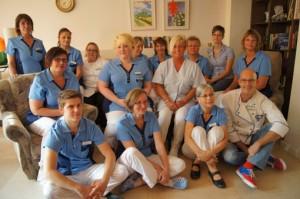 Das Team der Krankenwohnung des Förderervereins Heerstraße Nord
