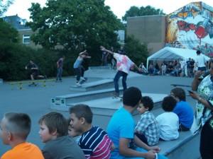 und beim Skate Contest vom STEIG, hier noch beim Warming Up