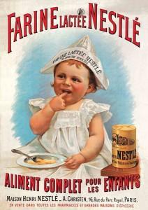 Plakat Nestlé_Kindermehl um 1900 - Quelle Lizenzfrei Wikipedia/alimentarium.ch Wikipedia/
