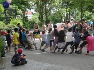 jedes Jahr dabei - das Kinderfest am Reclamweg