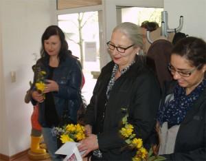 Spandaus Frauenbeauftragte Annuka Ahonen, Cornelia Dittmar und Nakissa Zabet (beide vom QM Heerstraße)