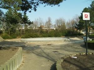Nur wenige Schritte vom Müllplatz entfernt entstehen derzeit die neuen Erholungsflächen
