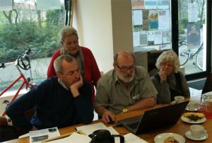 Die Schlussredaktion: Paul Duwe, Dagmar hecker, Uli Kluge, Brigitte Stenner