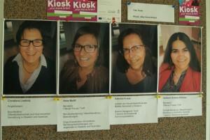 Das Team auf einen Blick: Christiane Liedholz, Anne Nadif, Gabriele Kunze, Gülüsah S. Sonmez