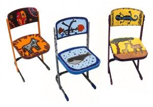 Drei von Dreizehn Siegerstühlen