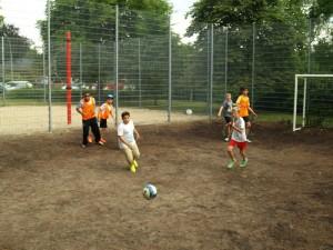 .. beim Stadtteilfest-Turnier der Bolzplatzliga