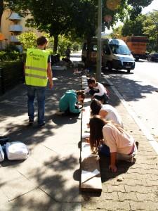 """... Aktionen """"Wimpel und Banner""""  zusammen mit Streetwork Staaken"""