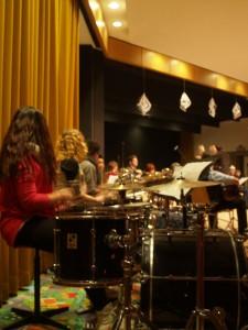 Die Schlagzeuggruppe von Laurids Richter