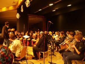 CSO Big Band und Blasorchester der Musikschule bei der Probe