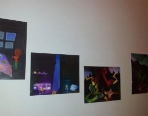 Bildergeschichten an der Wand