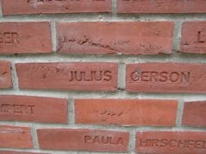 Namensstein Julius Gerson
