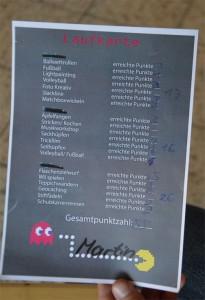 Sieger-Laufkarte der Staakener Olympics Media Games