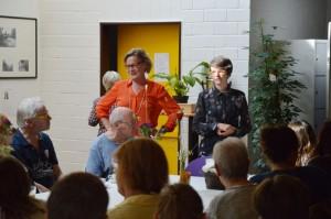 Ansprachen zur Eröffnung von Petra Sperling (Gemeinwesenverein) und Nathalie Oswald