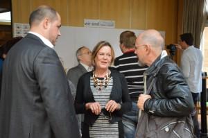 Im Gespräch mit Stadtrat Bewig und Prof. Wagner (Vorstand Verband sozial kulturelle Arbeit)