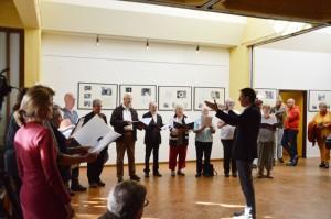 mit Liedern vom Kirchenchor zu Staaken (der kleinen Besetzung)