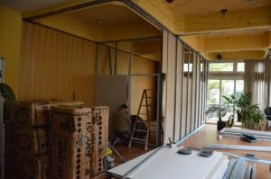 Trockenbau für Praxisräume im Saal