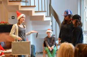 der Verwechslung mit dem Weihnachtsmannkoffer voller Wünsche der Kinder des We