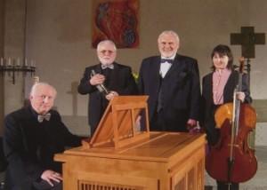 Am 19.3. Trompete, Cello, Orgel und Gunther Emmerlichs Bass
