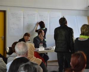 Organisation & Moderation: Sieghild Brune, Tom Liebelt, Anika Steinborn (beim notieren)